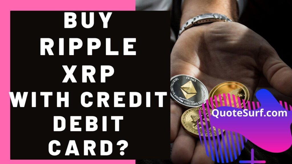 How To Buy Ripple XRP Coin With Credit Debit Card images
